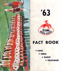1963 Ottawa Rough Rider Fact Book  with Autographs