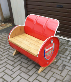 Arsenal shell Harley castrol Oil drum benches Volvo scania tractor cat