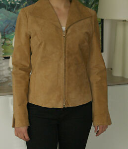 Like New Beige Suede Jacket - Danier Leather, Sz M