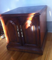 Hardwood Cabinet with front doors