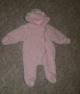 3 to 6 month snow suit
