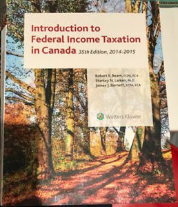 Introduction to Federal Income Taxation in Canada Textbook 35th