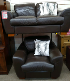 2+1 Brown Leather Suite