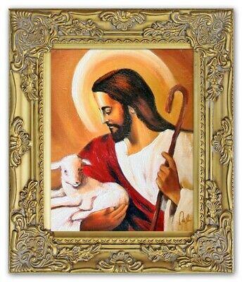 Religion Jesus Christus Handarbeit Ölbild Bild Ölbilder Rahmen Bilder G06288