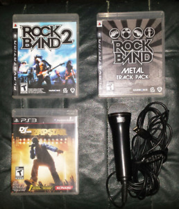 3 PS3 Games and 1 Microphone $15