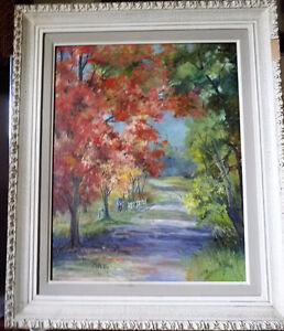 """Horse and Buggy Trail by M McKay """"Old Country Road"""" 1950's Stratford Kitchener Area image 2"""