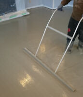Basement Floor Concrete Leveling & Trench Filling