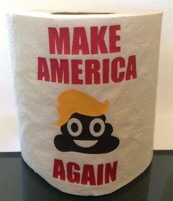 - MAKE AMERICA KRAP AGAIN DONALD TRUMP TOILET PAPER POOP EMOJI GAG GIFT~GREAT