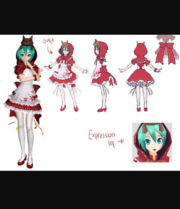 Miku hatsune costume (Red clover / red riding hood)