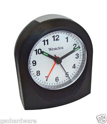 Westclox Analog TRAVEL Alarm Clock 47312 BATTERY POWERED Black NEW!