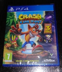 Play sataion 4 Crash bandicoot N-sane troligy for sale