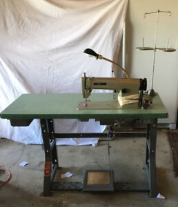 Nakajima Industrial sewing machine with rebuilt motor
