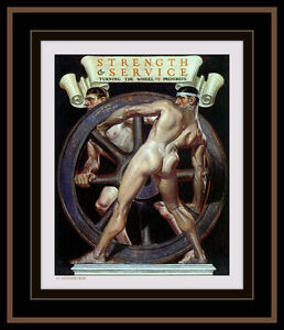 Male Nude J C LEYENDECKER Art Print ANATOMY FIGURE Gay Art ART DECO Cover Art