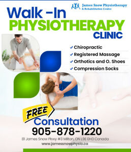 Walk-in Physiotherapy Clinic from December 4 till December 25th