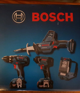 Bosch 18V Lithium-Ion 4-Tool Combo Kit