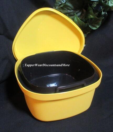Tupperware New Microwave Multi Server Steamer Square Veggie Rice Yellow & Black