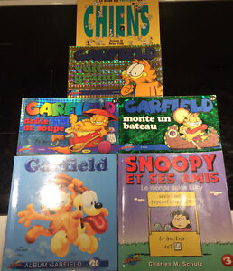 LOT (6) BANDES DESSINEES GARFIELD SNOOPY, CHIENS