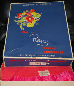 Chatham PURREY Blanket  ( in original EATON's box)