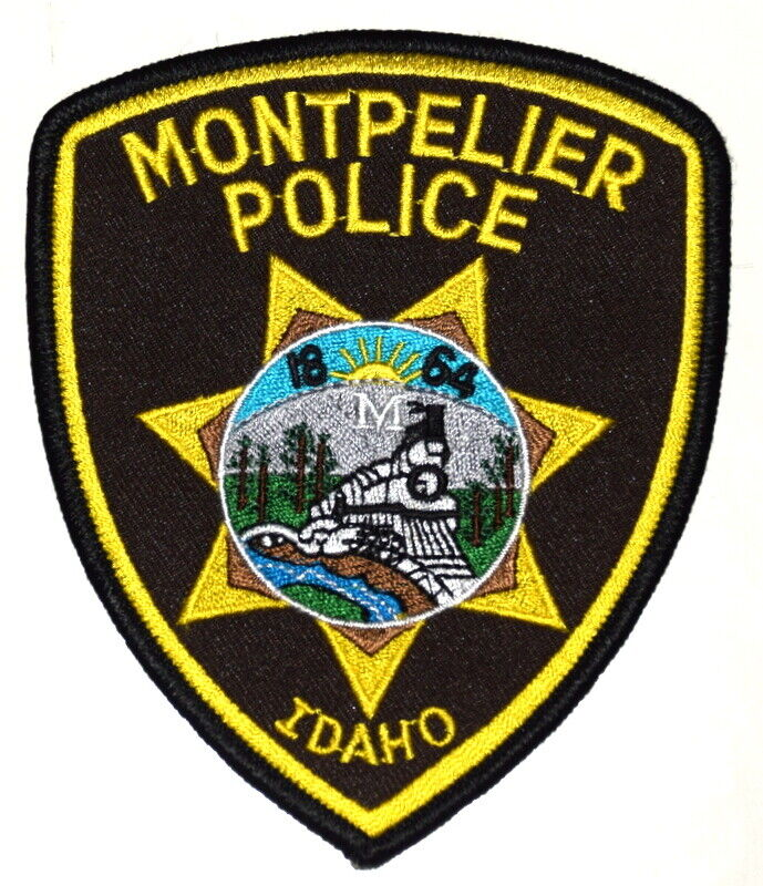 MONTPELIER IDAHO ID Sheriff Police Patch RR RAILROAD TRAIN STEAM ENGINE ~