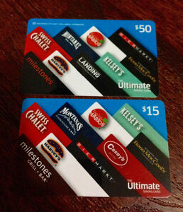 $65 worth of gift cards for any of the restaurants on the front