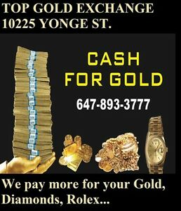 MOST CASH FOR YOUR GOLD ,ROLEX ,DIAMONDS (I CAN COME TO YOU )