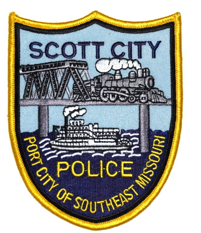 SCOTT CITY MISSOURI MO Sheriff Police Patch BRIDGE RR RAILROAD TRAIN STEAM ENGIN