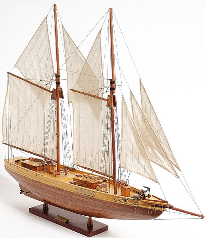 "Schooner Bluenose II Wood Ship Model 38"" Sailboat Fully Assembled Fishing Boat"
