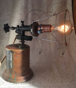 Antique Blow Torch Table Lamp