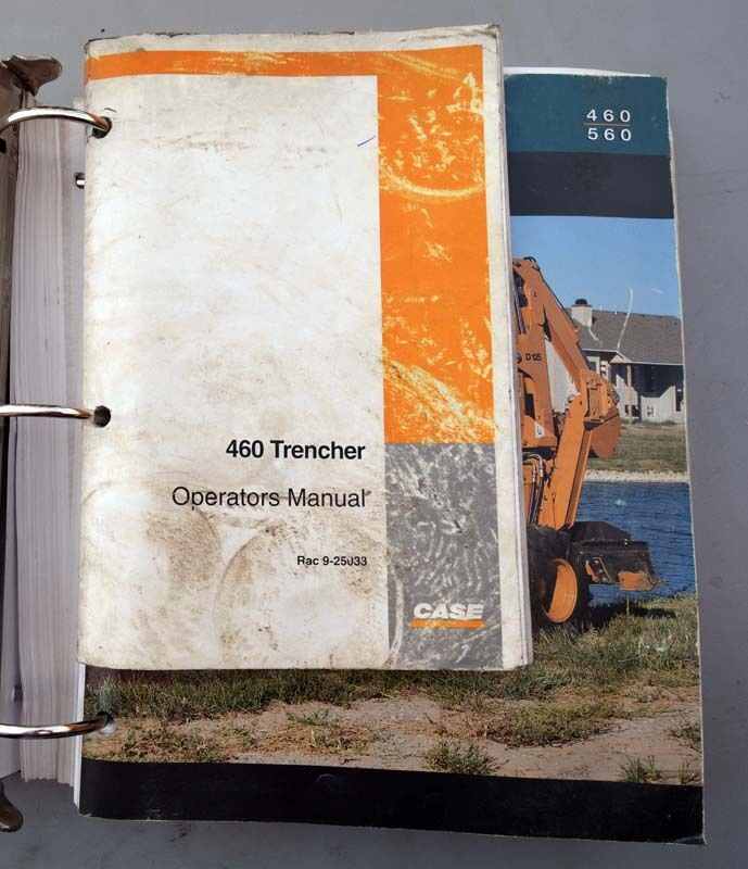 Case 460 Trencher Manual 1997 (Inv.33587)