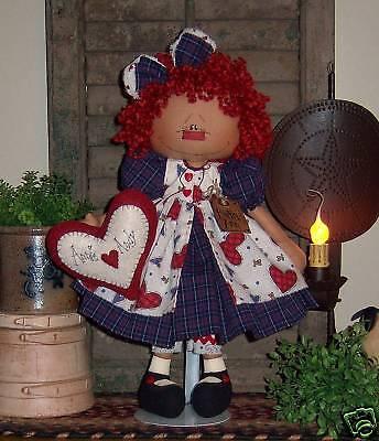 Primitive Raggedy Annie Andy Heart Ann Doll Paper Pattern 560