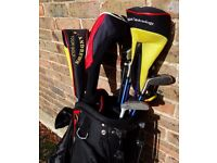 Golf Bag with assorted golf clubs