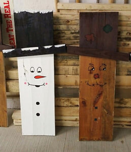 Snowman/Scarecrow outdoor decoration