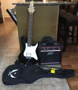 Dean Playmate Electric Guitar with Peavey Amp