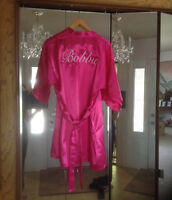 Wedding robes embroidery names