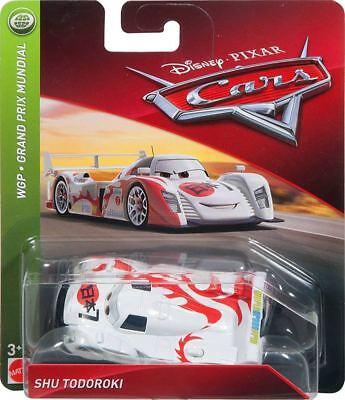 Disney Pixar World Of Cars Shu Todoroki  Wgp Racer Theme Diecast Mattel 2018