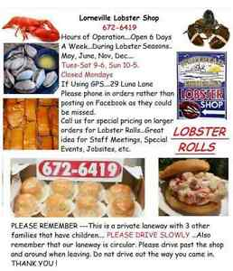 Lobster, Lobster Rolls, Scallops, Local Clams, Smoked Salmon