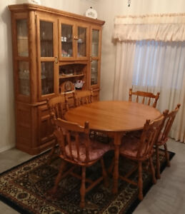 Oak Dining Room Hutch China Cabinet