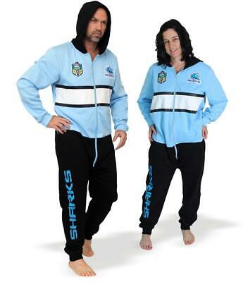 Shark Onesie Adult (NRL Onesie Footy Suit - Cronulla Sharks - Adult - Rugby)