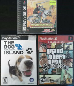 3 PS2 PS1 PLAYSTATION VIDEO GAMES LOT $15
