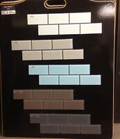 DEAL: 2X4 GLASS MOSAIC IN 5 COLORS $6.50SH (1 SQ FT sheet )