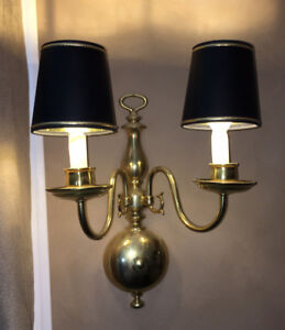 SOLID Brass 2-Light Wall Sconces (Set of 2)