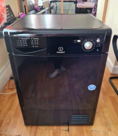 Indesit tumble dryer condenser 8kg capacity black 60cm