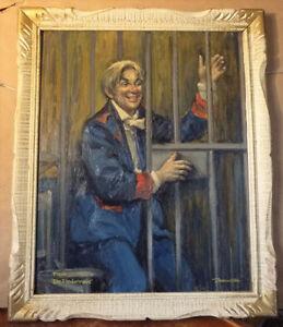 """Opera, Original Oil by Geoffrey Traunter """"Die Fledermaus"""", 1977 Stratford Kitchener Area image 1"""