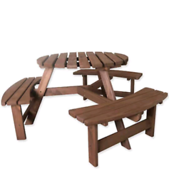 Woodside 6 Seater Round Outdoor table