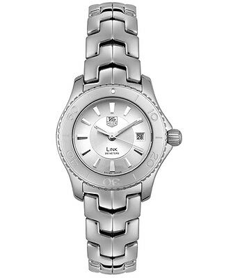 BUY ME AUTHENTIC TAG HEUER LADIES LINK WJ1310.BA0571 SWISS QUARTZ SILVER WATCH