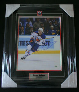 Connor McDavid Authentic Autographed Photo 11x14 Prof. Framed
