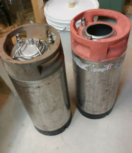 "2 Cornelius ""Corny"" kegs 5G / 20L for homebrewing"