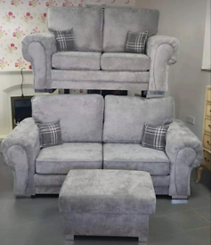 3+2 SEATER VERONA SOFAS WITH FULL BACK CUSHIONS