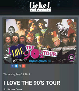 2 tickets for tonights i love the 90s tour $200.00