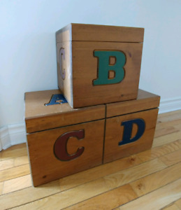 Wooden Storage Blocks